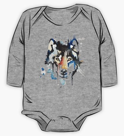 Watercolour Wolf One Piece - Long Sleeve