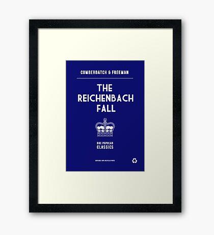 BBC Sherlock - The Reichenbach Fall Minimalist Framed Print