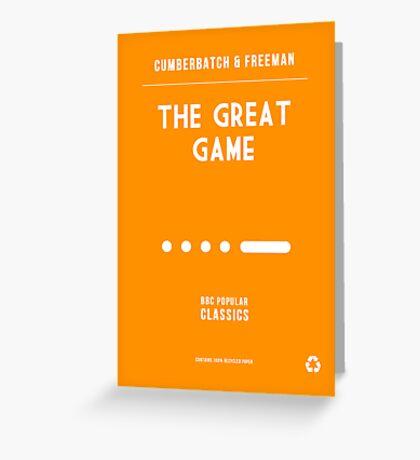 BBC Sherlock - The Great Game Minimalist Greeting Card