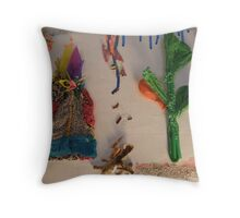 WILD WEST PANTS PARTY 'PLASTIC LANDSCAPE 24 Throw Pillow