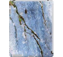 Blue Craked Wall  iPad Case/Skin