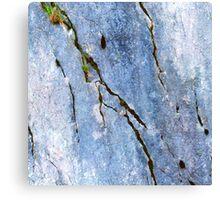 Blue Craked Wall  Canvas Print