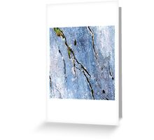 Blue Craked Wall  Greeting Card
