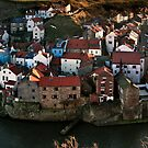 Staithes Rooftops by Phillip Dove