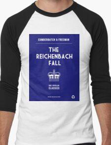BBC Sherlock - The Reichenbach Fall Minimalist Men's Baseball ¾ T-Shirt