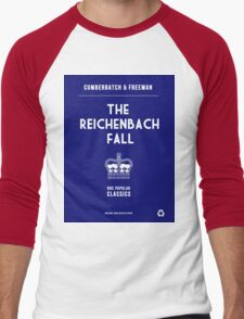 BBC Sherlock - The Reichenbach Fall Minimalist Men's Baseball ¾ T-Shirt