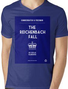 BBC Sherlock - The Reichenbach Fall Minimalist Mens V-Neck T-Shirt