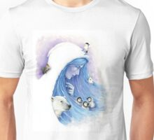 Lady Winter and the snow land Unisex T-Shirt