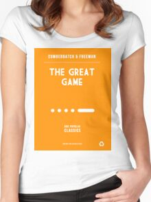 BBC Sherlock - The Great Game Minimalist Women's Fitted Scoop T-Shirt