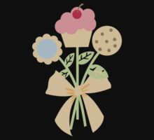 Cookies cupcake flower bouquet bow t-shirt by BigMRanch
