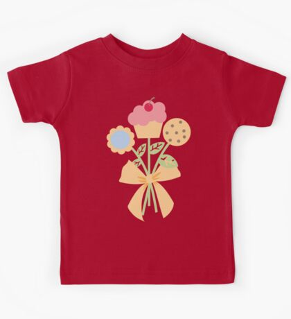 Cookies cupcake flower bouquet bow t-shirt Kids Tee