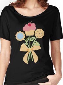 Cookies cupcake flower bouquet bow t-shirt Women's Relaxed Fit T-Shirt