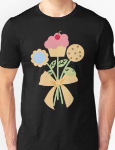 Cookies cupcake flower bouquet bow t-shirt T-Shirt