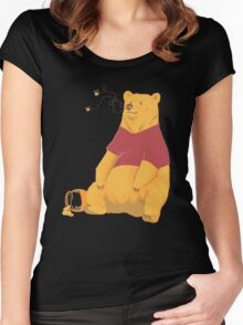 Pooh at the Zoo Women's Fitted Scoop T-Shirt