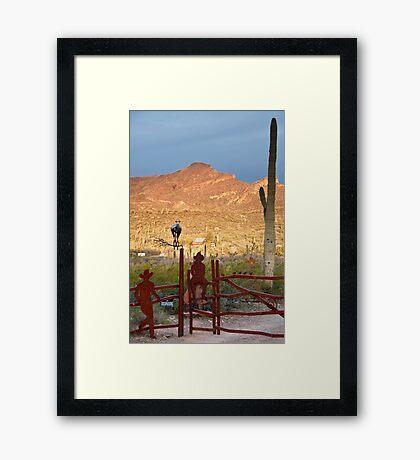 Desert Ranch Framed Print
