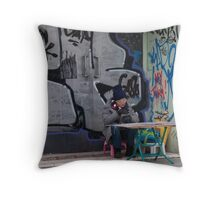 Waiting For A Customer Throw Pillow