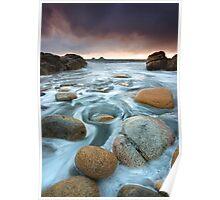 Cornwall : Cornish Swirls Poster