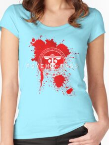 Psycho-Pass Logo Women's Fitted Scoop T-Shirt