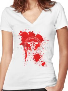 Psycho-Pass Logo Women's Fitted V-Neck T-Shirt