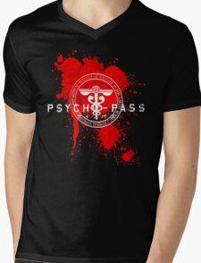 Psycho-Pass Logo Mens V-Neck T-Shirt