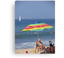 Relaxing at the Beach - Relajando en la Playa Canvas Print