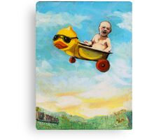 rubber duck & baby fantasy oil painting Canvas Print