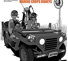 Marine Corps Honeys - Black Edition by Popillustrated