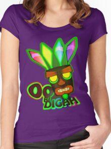 'OOBIDIGAH' Women's Fitted Scoop T-Shirt