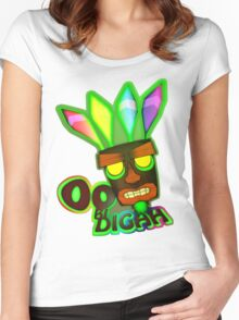 'OOBIDIGAH' Women's Fitted Scoop T-Shirt