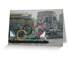 Olympics comes to Town Greeting Card