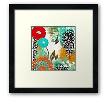 Bali I Abstract Collage Fine Art Framed Print