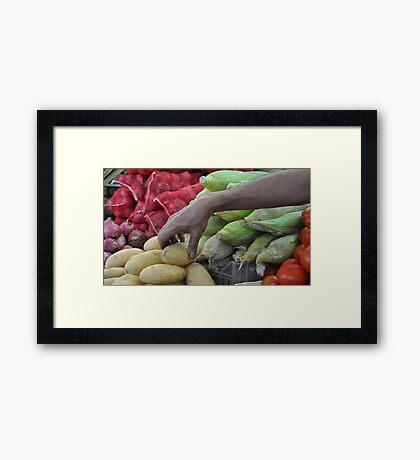 Vegetable Souq  Framed Print