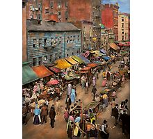 City - NY - Jewish market on the East Side 1890 Photographic Print