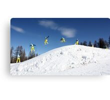 Snowboarding Italy Canvas Print