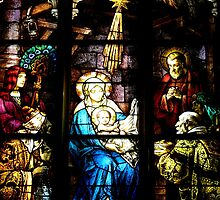 Stain Glass Mary and Baby Jesus by Amy Herrfurth