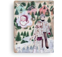 The Night Before Christmas, Ice Skaters Canvas Print