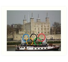 Olympic rings at the Tower of London Art Print