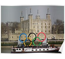 Olympic rings at the Tower of London Poster