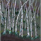 spring birches by wormink