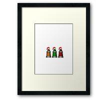 Christmas Daleks Framed Print