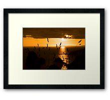 wild atlantic way sunset  Framed Print