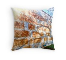 Rust Silhouette Throw Pillow