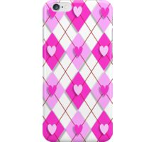 Argyle Hearts iPhone Case/Skin