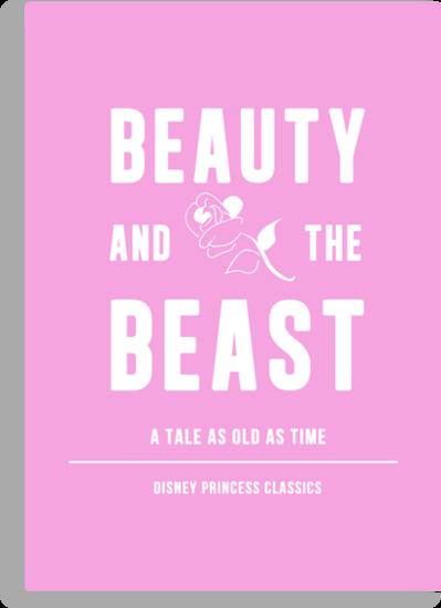 Disney Princesses: Beauty and the Beast Minimalist by ofalexandra
