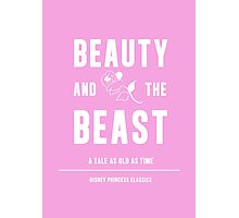 Disney Princesses: Beauty and the Beast Minimalist Photographic Print