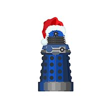 Blue Dalek Christmas by nessaaw