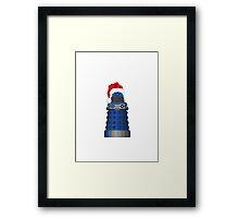 Blue Dalek Christmas Framed Print