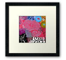 Bali III Abstract Fine Art Collage Framed Print