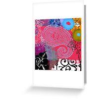 Bali III Abstract Fine Art Collage Greeting Card