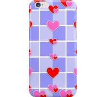 Chequerboard hearts iPhone Case/Skin